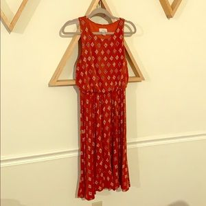 Red Ann Taylor Loft Dress